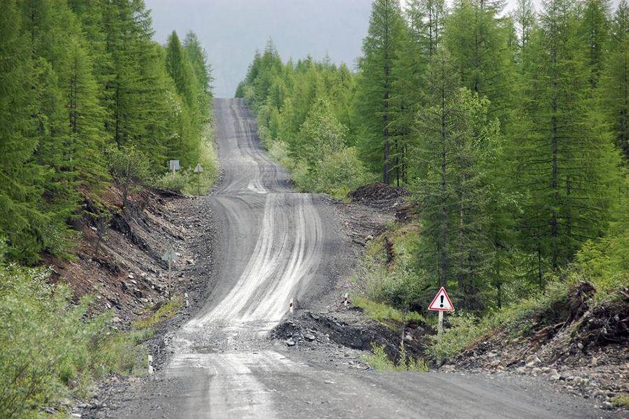 photo de la Kolyma Highway, Sibérie, Russie.