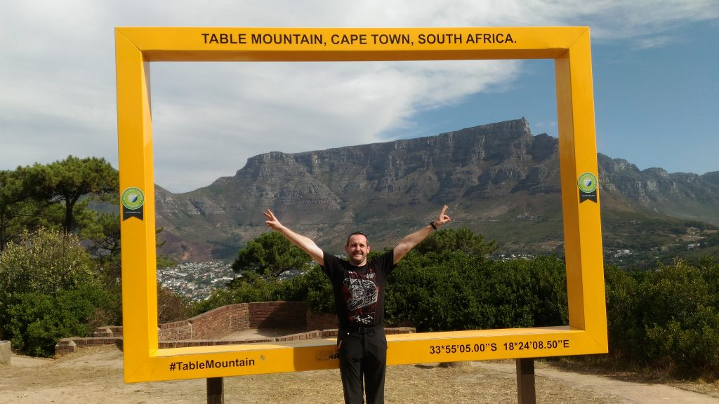 A cape town, le point de vue sur la table mountain