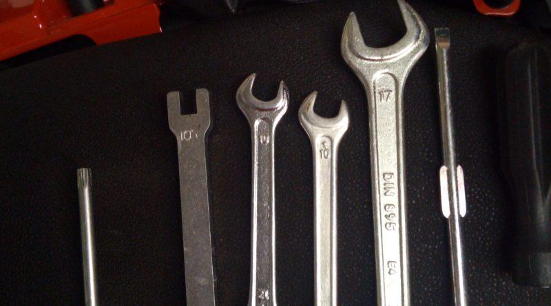 La trousse à outils de la moto