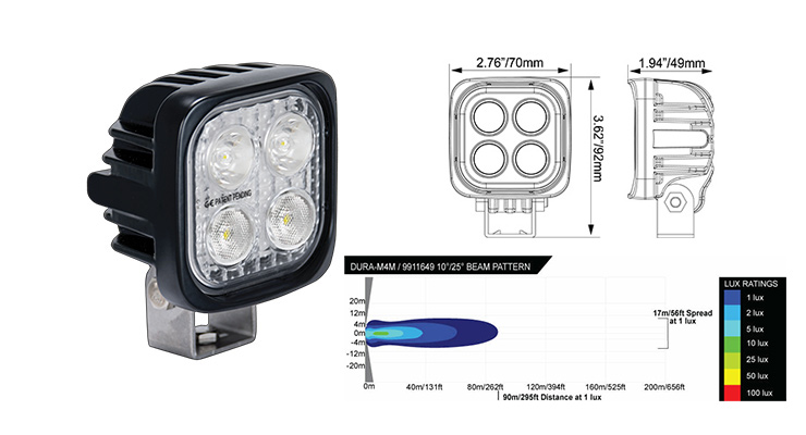 phare led visionx, dura mini combo