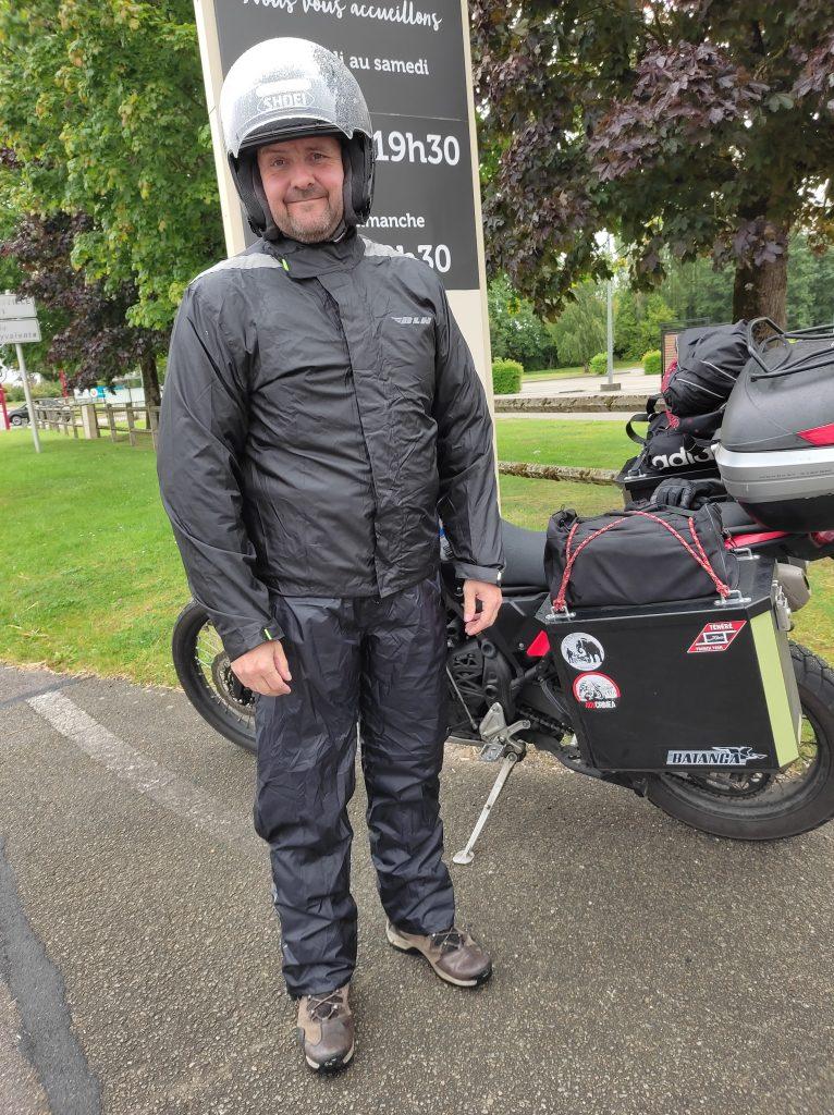 La pluie lors d'un voyage à moto...